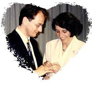 Christian mit Ines bei der Hochzeit