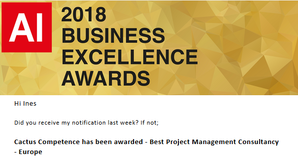 2018 Business Excellence Award #2