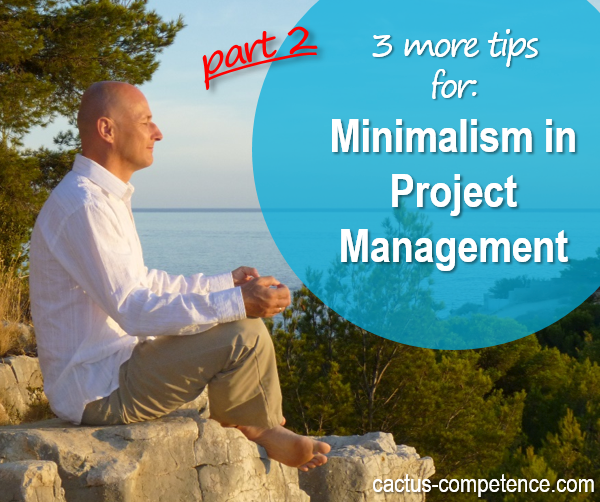3 more tips for minimalism in project management